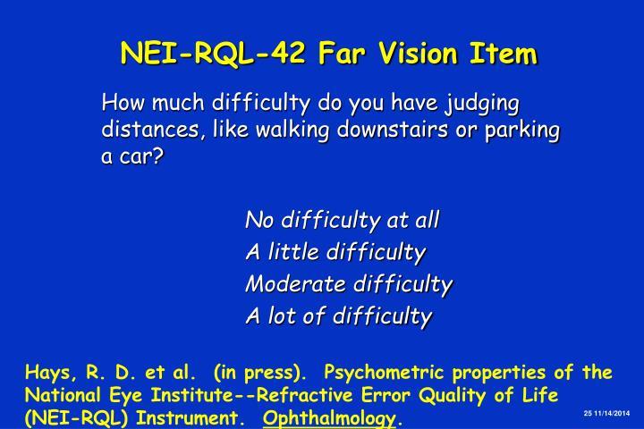 NEI-RQL-42 Far Vision Item