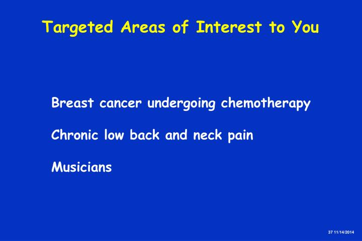 Targeted Areas of Interest to You