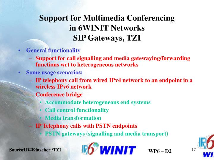 Support for Multimedia Conferencing