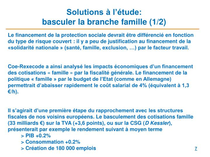 Solutions à l'étude: