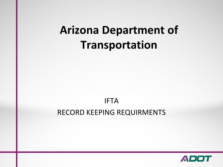 arizona department of transportation n.