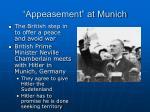 appeasement at munich