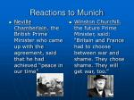reactions to munich