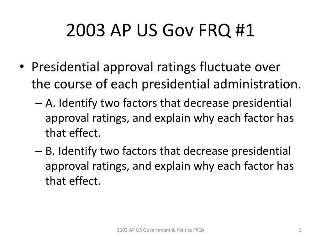 Ppt Ap Us Government And Politics 2003 Frqs Powerpoint Presentation Free Download Id 6615576