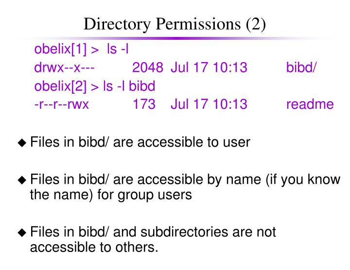 Directory Permissions (2)