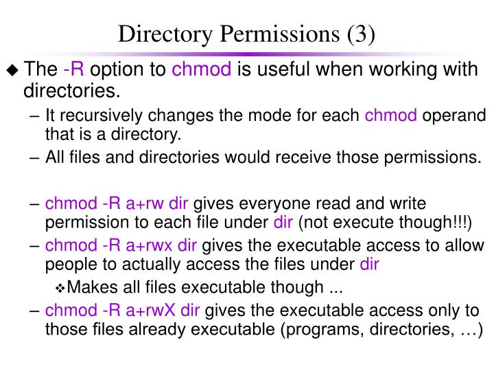 Directory Permissions (3)