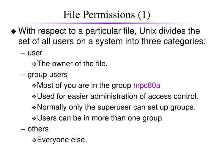 File permissions 1