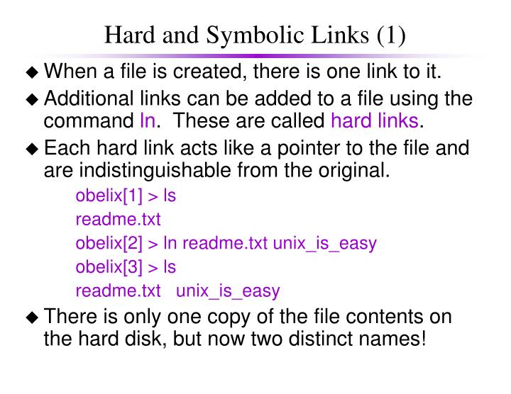 Hard and Symbolic Links (1)