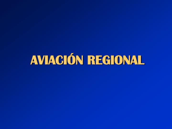 Aviaci n regional