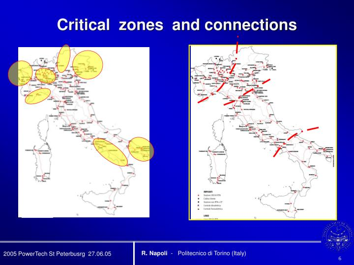 Critical  zones  and connections