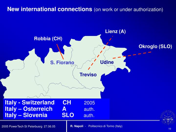 New international connections