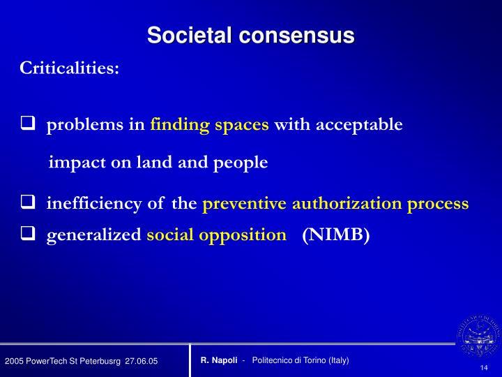 Societal consensus