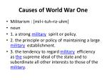 causes of world war one1