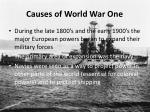 causes of world war one2