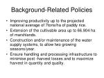 background related policies
