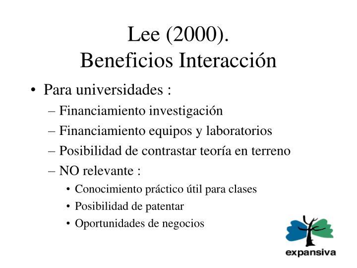 Lee (2000).
