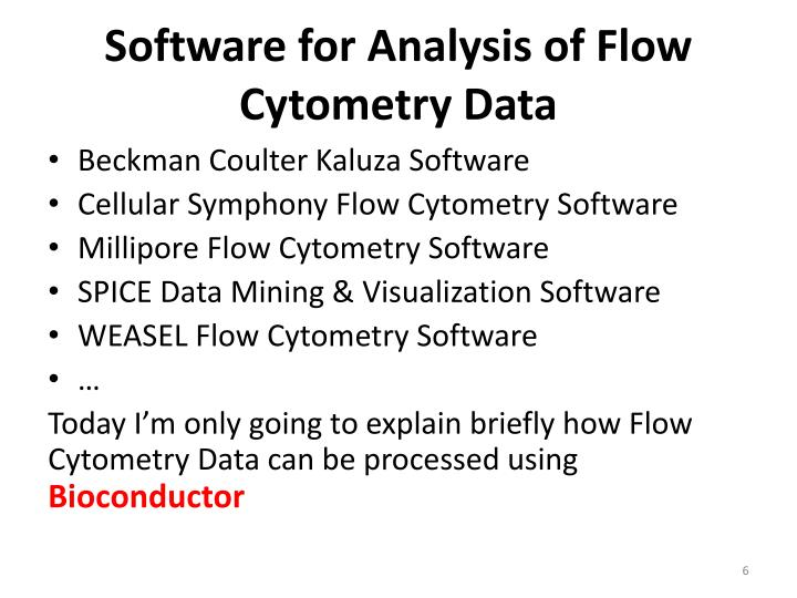 Software for Analysis of Flow Cytometry Data