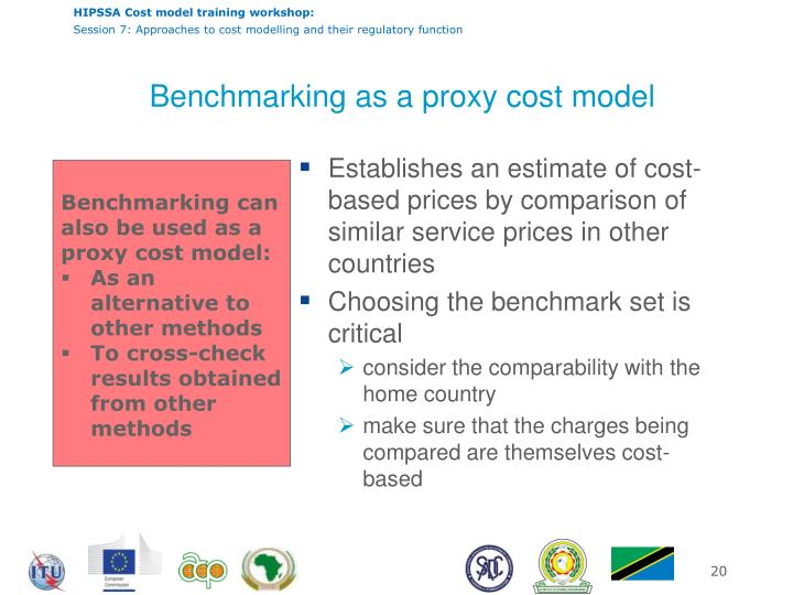 Benchmarking as a proxy cost model