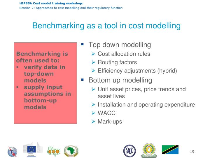Benchmarking as a tool in cost modelling