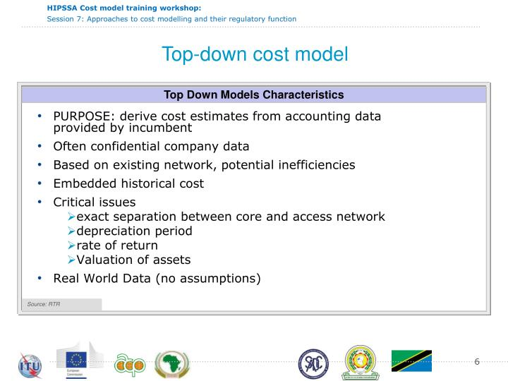 Top-down cost model
