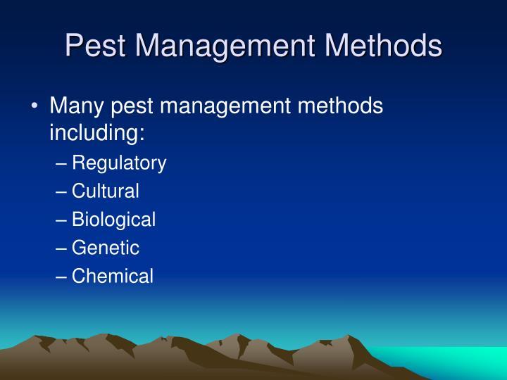 Pest Management Methods