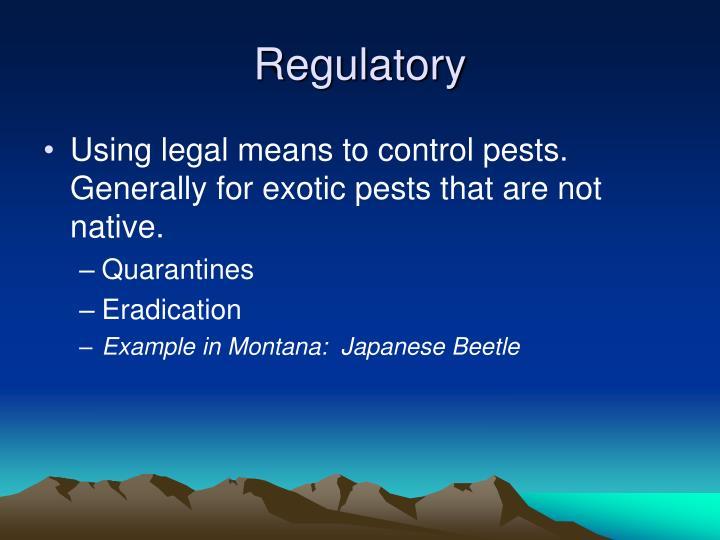 Regulatory