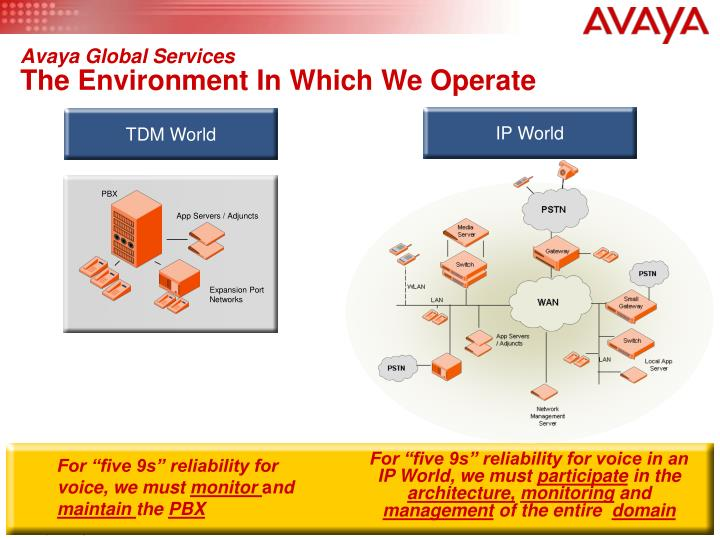 Avaya global services the environment in which we operate