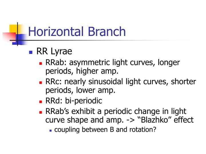 Horizontal Branch