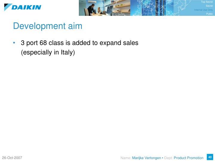 Development aim