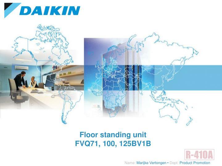 Floor standing unit