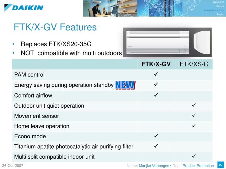 FTK/X-GV Features