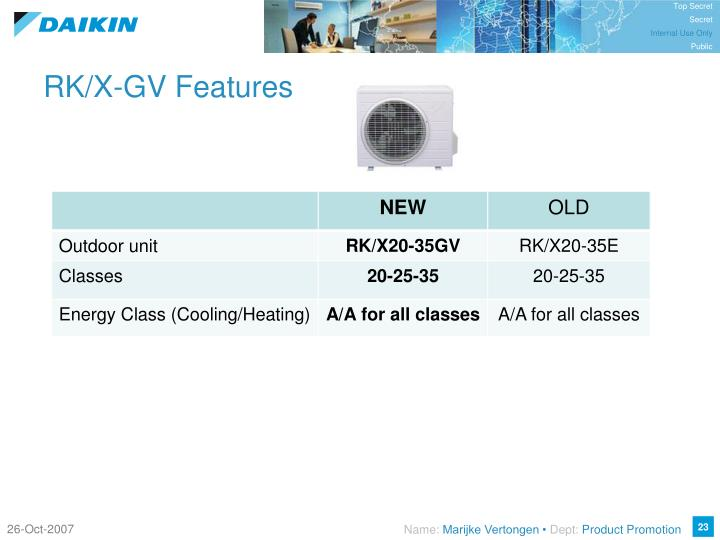 RK/X-GV Features