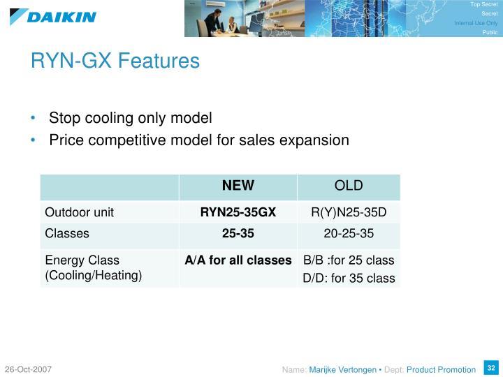 RYN-GX Features