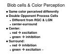 blob cells color perception
