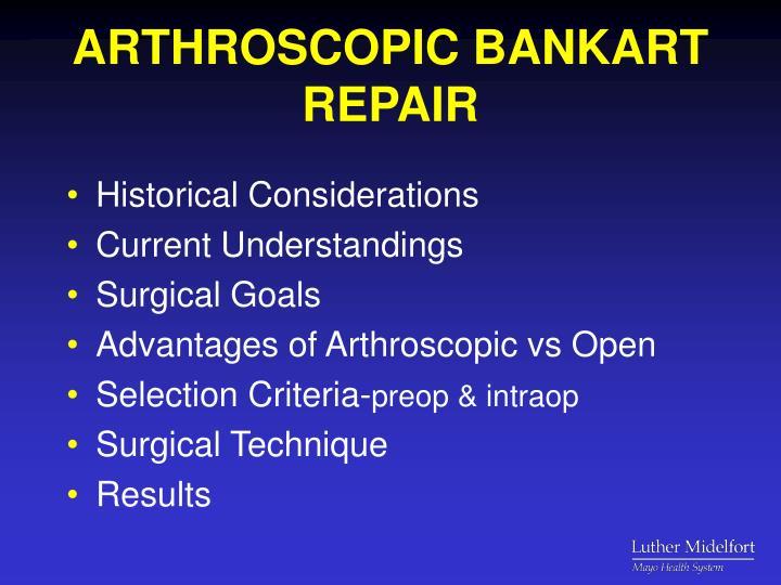 Arthroscopic bankart repair1