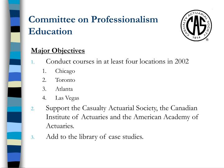 Committee on professionalism education1