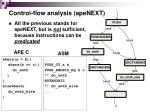 control flow analysis apenext