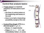control flow analysis basics1