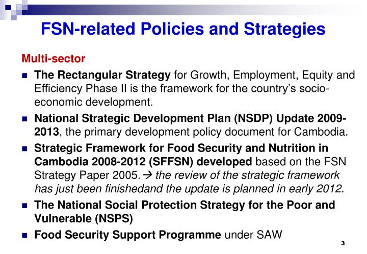 Fsn related policies and strategies