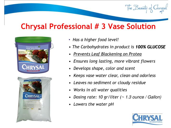 Chrysal Professional # 3 Vase Solution