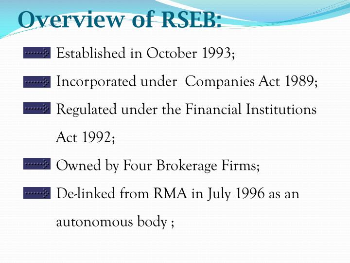 Overview of rseb