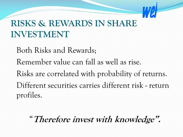 RISKS & REWARDS IN SHARE INVESTMENT