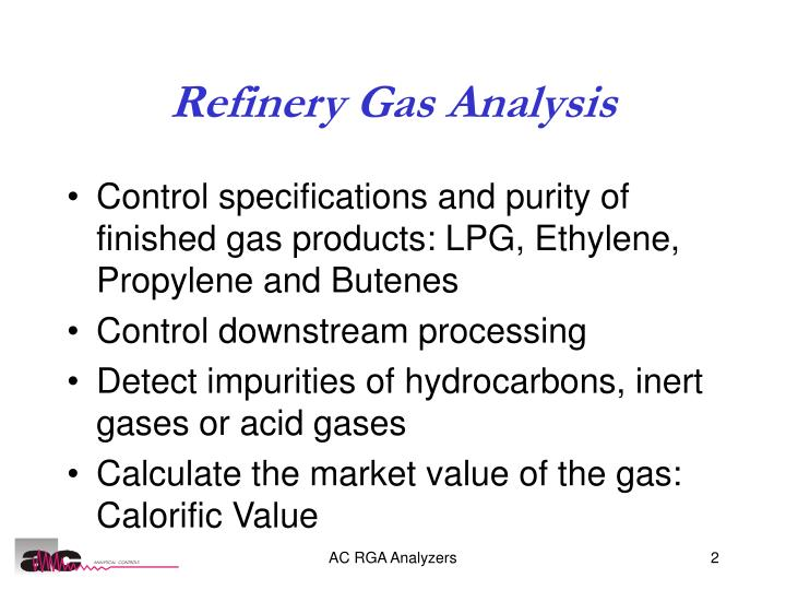 Refinery Gas Analysis