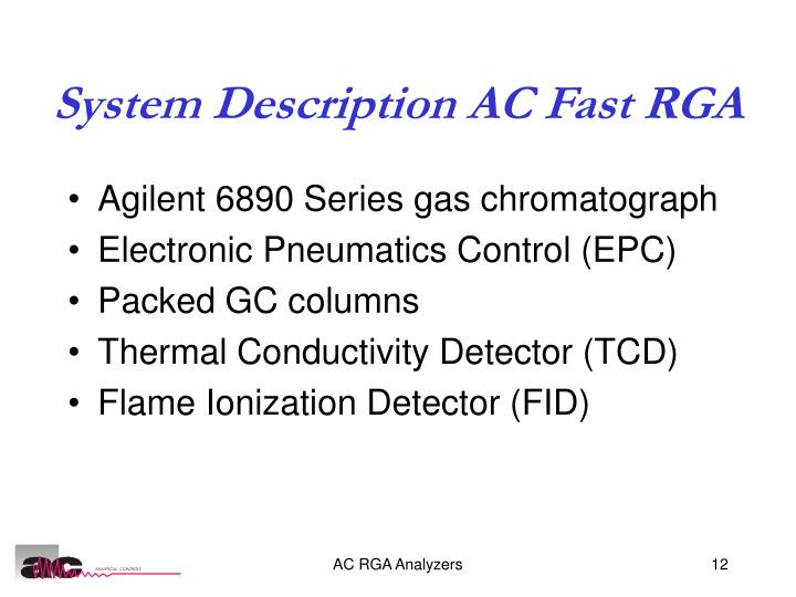 System Description AC Fast RGA