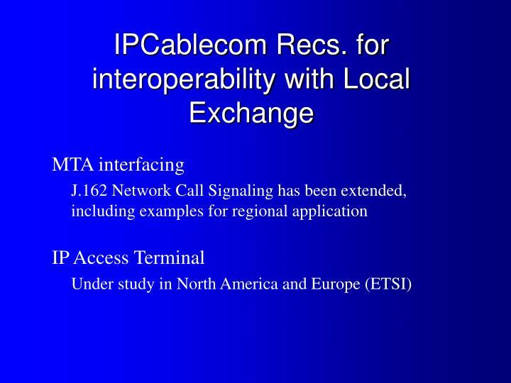 MTA interfacing