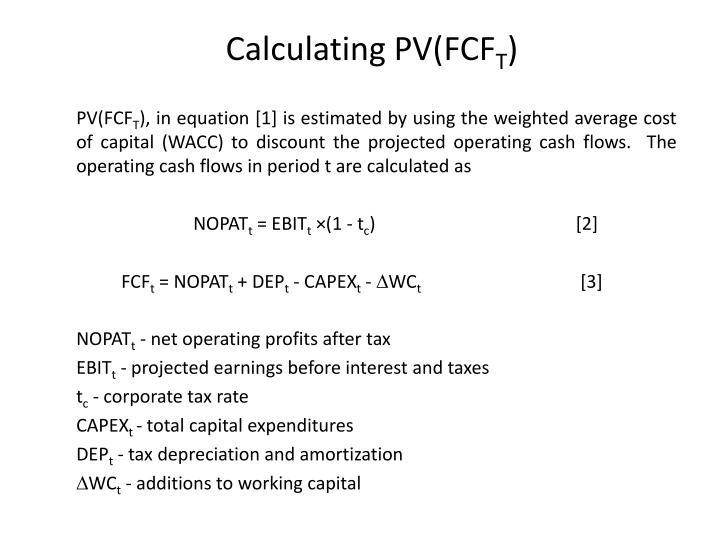 Calculating PV(FCF