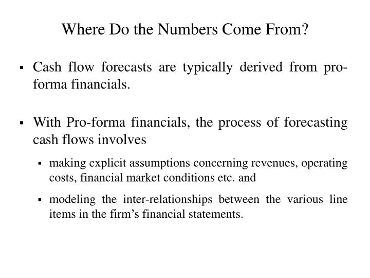 Where Do the Numbers Come From?
