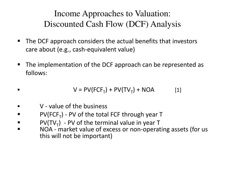 Income Approaches to Valuation: