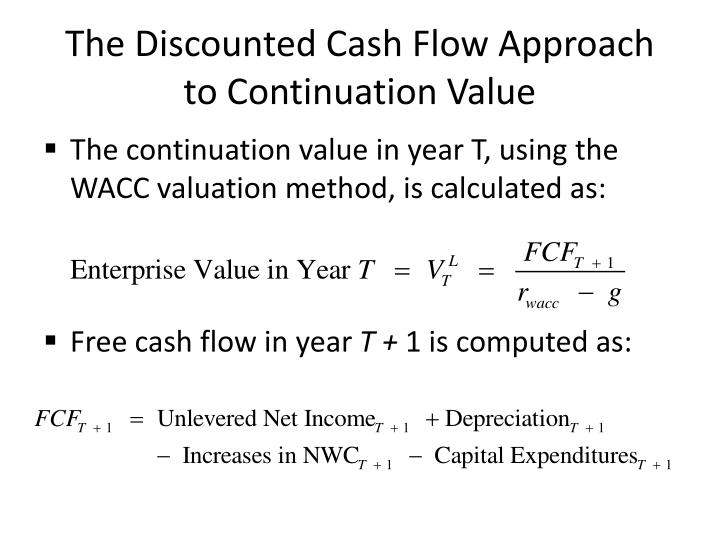 The Discounted Cash Flow Approach