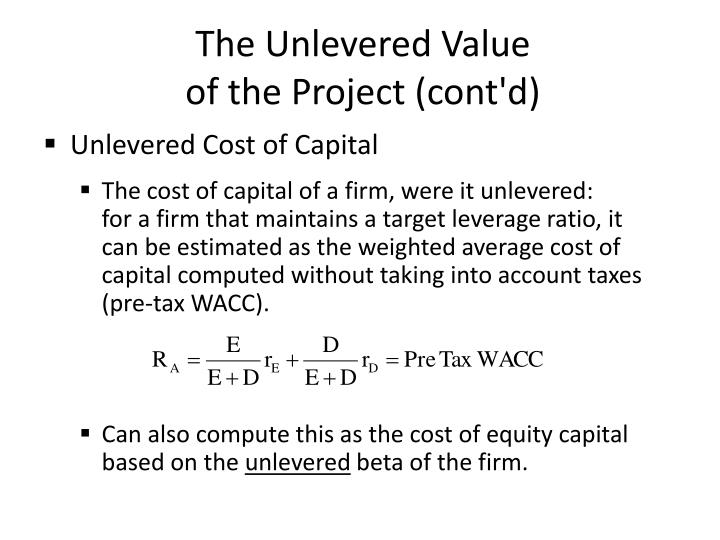 The Unlevered Value